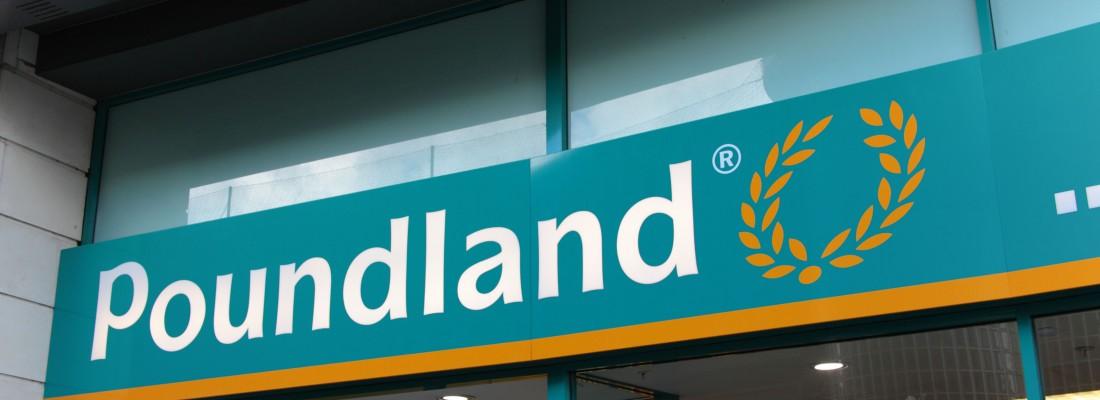 D0B83A Poundland signage